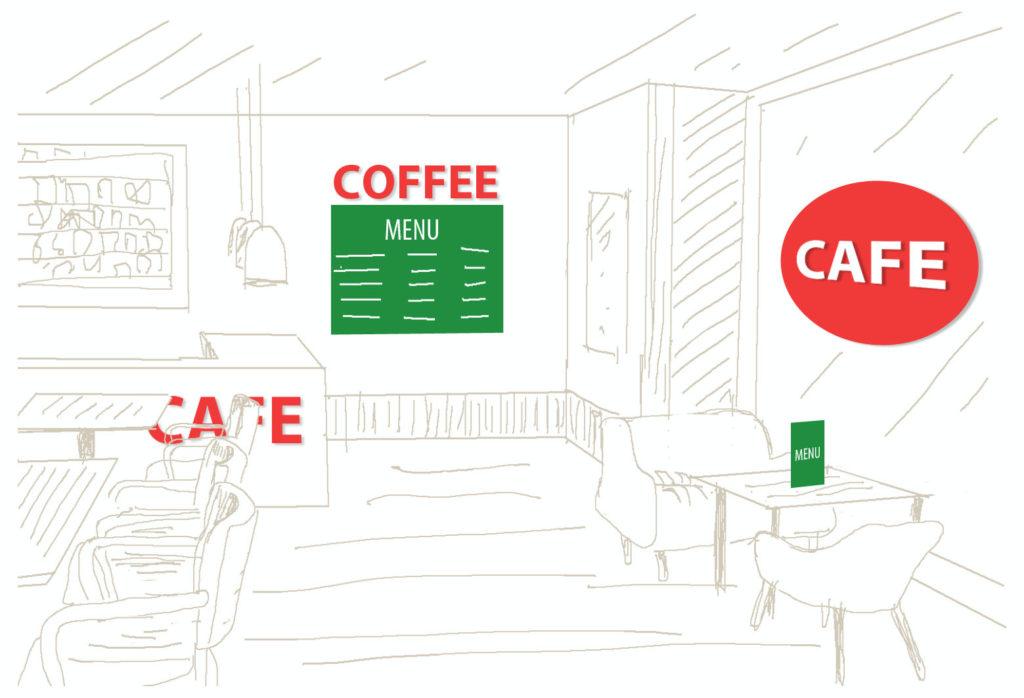 folia wyklejenie napis reklama menu